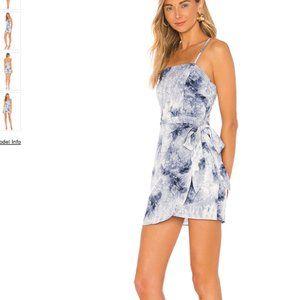 superdown Anna Tie Dye Wrap Mini Dress in Blue